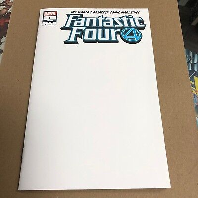 Fantastic Four #1 2018 Blank Sketch variant.