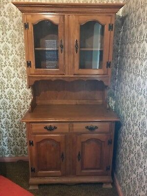 Antique Bookcase Glass Display Cabinet