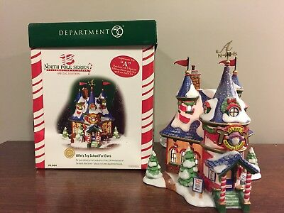 Department 56 Dept 56 North Pole Series- Alfies Toy School for Elves # 56894