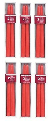 Lot 12 Luminessence Red Taper Candles, 2-ct. Packs Length: 10 in.