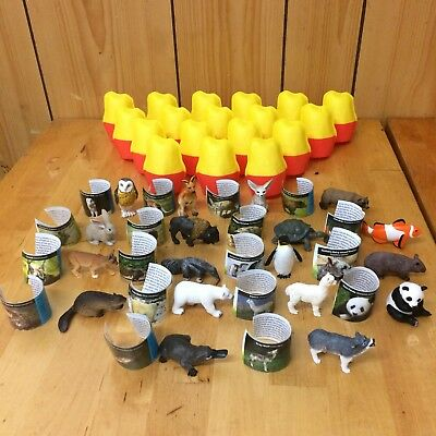 New Yowie 2017 Australian COMPLETE SET OF 18 Animals w/Papers & Containers