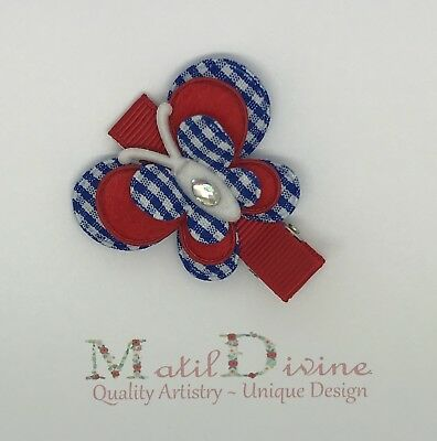 Baby Toddler Girl Non Slip 4.5 cm Alligator Hair Clip Red, White, Blue Butterfly