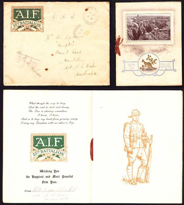 January 1919 AIF 55th Battalion New Year Wishes
