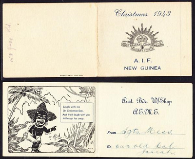 AIF New Guinea 1943 Christmas Card.