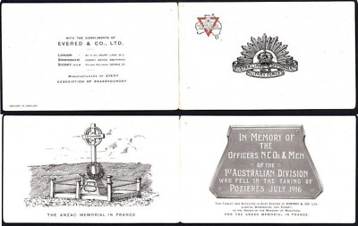Circa 1920 Evered & Co. Brassfounders YMCA/ACMF Business Advertising Folder with