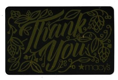 Macy's collectible gift card no value mint #54 Thank You