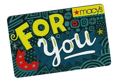 Macy's collectible gift card no value mint #57 For You