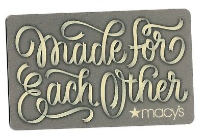 Macy's collectible gift card no value mint #63 Made for Each Other