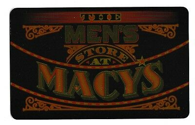Macy's collectible gift card no value mint #64 The Men's Store