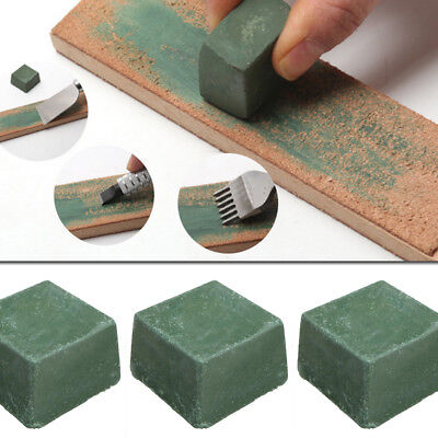 Leather Strop Sharpening Compound Polishing Wax Green Craft Paste Working Tool