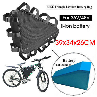 Electric Bike Battery Bag Case Bicycle Storage Protection Waterproof 40x12x 8cm