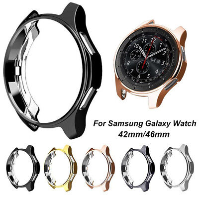 For Samsung Galaxy Watch Soft TPU Bumper Case Cover Screen Protector 42mm 46mm