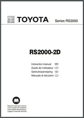 Toyota RS2000-2D sewing machine instruction A4 size Manual