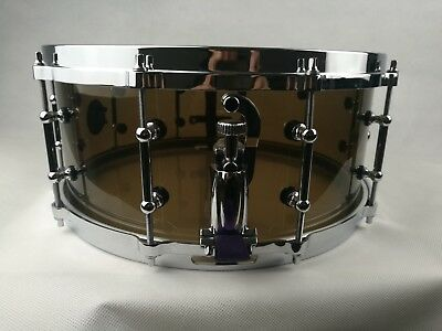 Seamless Smoke Acrylic Acoustic Snare Drum 14x6