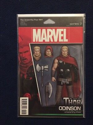 The Unworthy Thor # 1 Action Figure Cover Variant Marvel Comics NM 2017