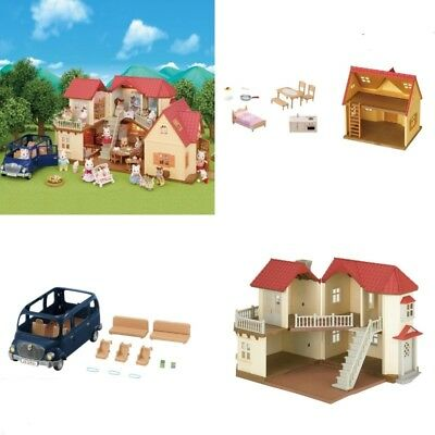 Sylvanian Families Beechwood Hall Bundle Gift Set (House/cottage/7 Seater)