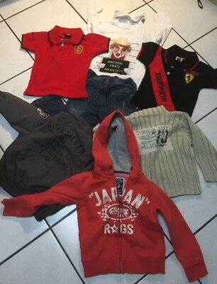 Lot Garcon 3 Ans Bombers  Quiksilver Sweater Japan Rags Timberland Jean Etc