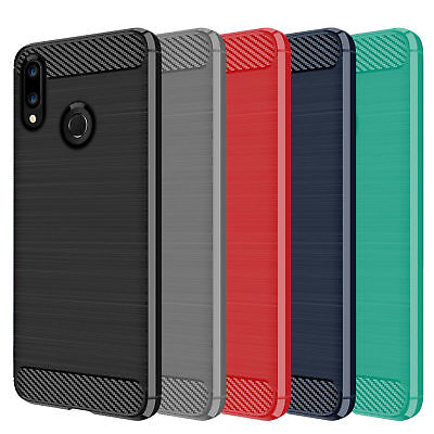DD For Huawei Honor 10 Lite Carbon Fibre TPU Rugged Gel Case Silicone Skin Cover