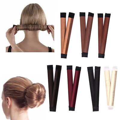 Women Hair Styling Bun Maker Donut Former French Twist Braid Tool Accessories UK