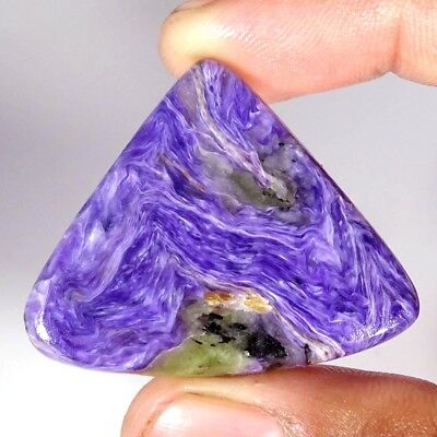 59.80Cts 100% Natural Blue Purple Charoite Pear Russian Cabochon Loose Gemstone