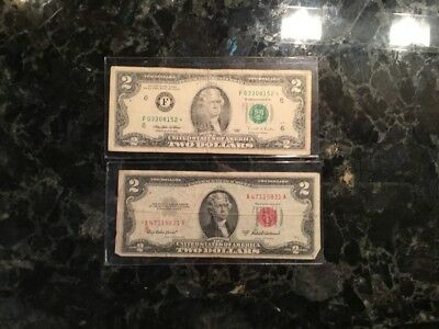 1953A $2United States Note + 1995  $2Federal Reserve Note -  STAR NOTE - Atlanta