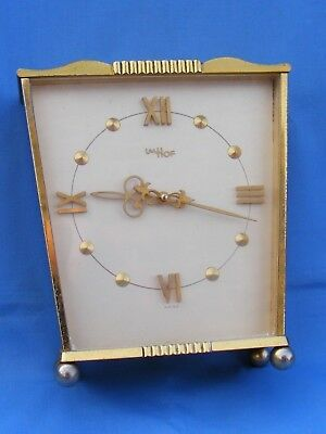 Vintage Imhof 8 Day Desk, Mantle Clock Timepiece, Working.