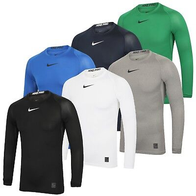 Nike Mens Pro Dri-Fit Compression Gym Training Top Long Sleeve Baselayer T-Shirt