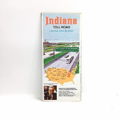 VINTAGE MAP 1950 Indiana toll road map toll schedule service areas on interstate 5 fwy map, ga highway map, interstate highways map, orlando county map, georgia interstate map, interstate road map of united states, illinois tolls rates map, interstate 75 map, interstate freeways map, interstate hotels map,