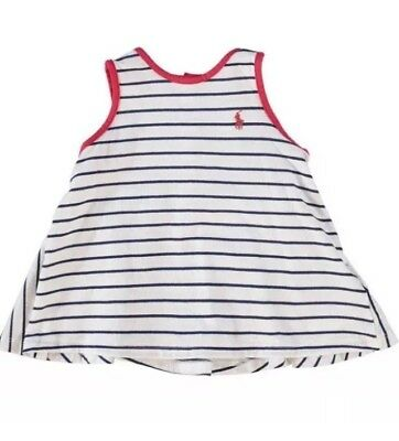 Ralph Lauren: Cream & Navy Stripe Top With Shorts Outfit{Size 9Months}