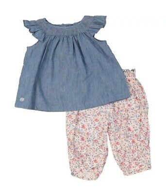 Ralph Lauren : Blue & White Blouse & Trousers Outfit {Size 0-9 Months} {RRP£85}
