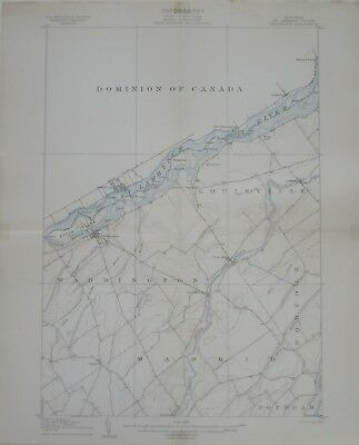 Original 1905 Map ST. LAWRENCE COUNTY New York Waddington Chamberlain Louisville