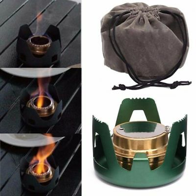 Alcohol Burner Stove Small Cooking Tools For Camping Outdoor Mini Portable Steel