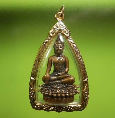 Perfect! Old Amulet Statue Phrathanjai Very Rare From Siam !!!