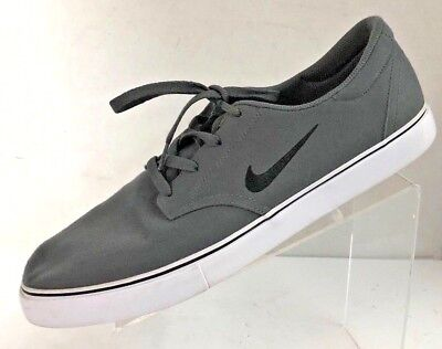 check out f63c7 0ded6 NIKE Men s SB Clutch Canvas Skate Dark Gray 729825-007 Shoe Size 14M