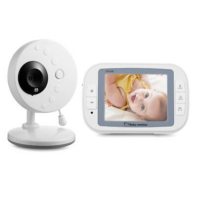 "3.5"" Wireless LCD Video Baby Monitor with Infrared Night Vision Two-way Audio"