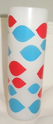 Original Vintage Dairy Queen Tall Frosted Glass Dairy Queen Design