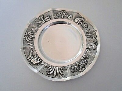 Indian Colonial Sterling Silver Dish, Coaster, Circa 1910