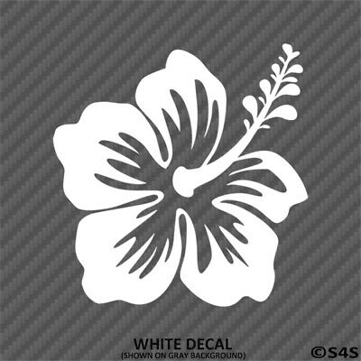 Hawaiian Hibiscus Flower Vinyl Car Laptop Decal Sticker  - Choose Color/Size