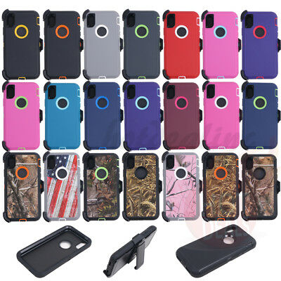 Defender Case Shockproof With Belt Clip For iPhone XR/XS MAX(Clip fits Otterbox)