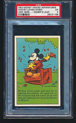1937 D52 Mickey Mouse Adventures MICKEY LOVES MUSIC PSA 5 - 1/1