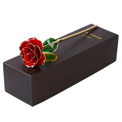 24K Gold Rose Plated Rose Valentine's Day Gift For Her with Souvenir Bag