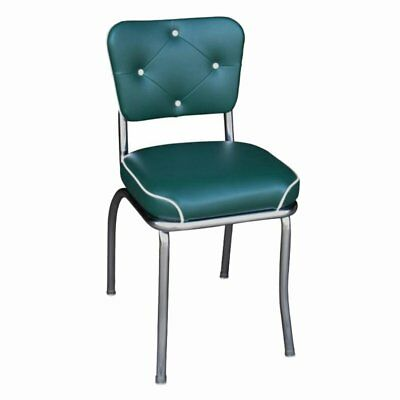 Richardson Seating Button Tufted Dining Chair with Waterfall Seat