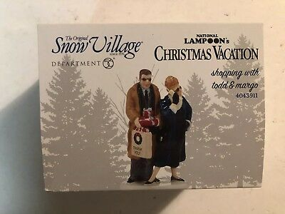 DEPT 56 SNOW VILLAGE Shopping With TODD &  MARGO CHRISTMAS VACATION  4043911 NEW