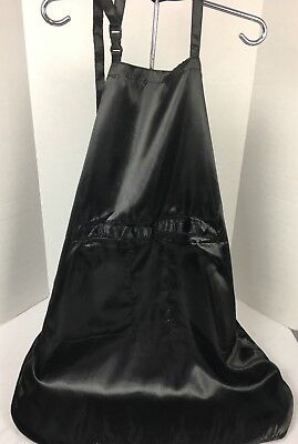 ALLURE OGI DESIGN Black Utility Apron Adjustable Strap Professional Apron EUC