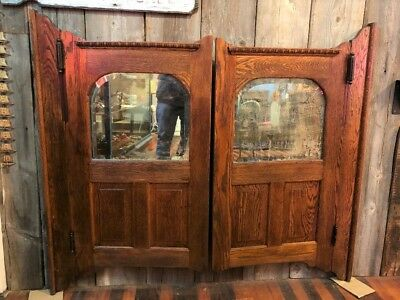 Antique Pair of Saloon Doors Wild West Swinging with Hardware Shipping Available