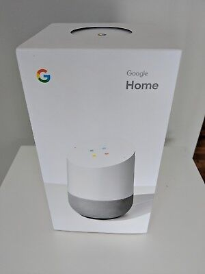 Google Home Voice Activated Smart Speaker - White/Slate NEW