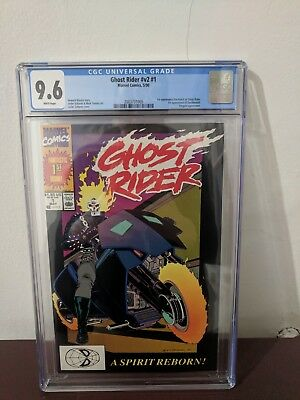 Ghost Rider #1 (1990) CGC 9.6 1st App. Danny Ketch & Deathwatch. White Pages.