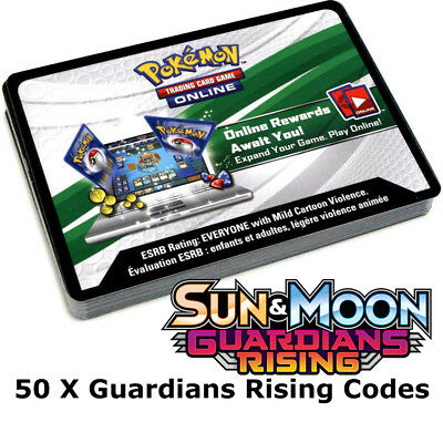 50x Sun And Moon Guardians Rising Pokemon TCGO PTCGO TCG Online Codes Cards Fast