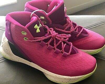 829220696ea8 NEW - UNDER Armour GS Curry 3 Youth Sz 6Y Lunar Pink Purple Lime ...