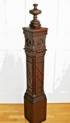 Beautiful Gothic Cherry Newel Post